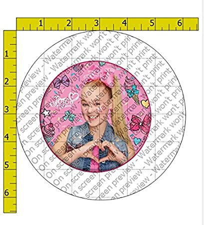 Image Unavailable Not Available For Color JoJo Siwa Heart Birthday Edible Frosting 4quot Round Cake Topper