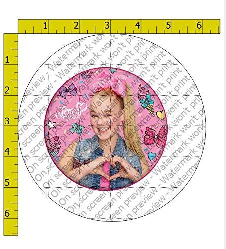 JoJo Siwa Heart Birthday Edible Frosting Image 4