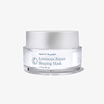 Amazon Com Vanity Planet Luminous Repair Sleeping Mask 1 7fl Oz 59ml Overnight Face Mask For Acne Aging Blackhead With Rosehip Oil Pomegranate And Lactic Acid Vegan Cruelty Free Beauty