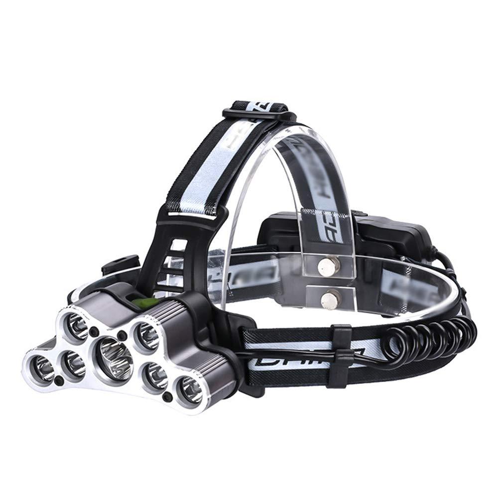 2PCS Scheinwerfer, LED Ultra Bright Work Headlight, USB wiederaufladbare Wasserdichte Taschenlampe für Laufen, Camping, Wandern