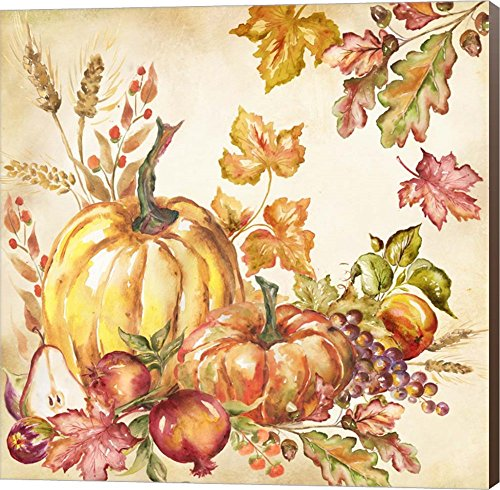 Watercolor Harvest Pumpkins I by Tre Sorelle Studios wall Art