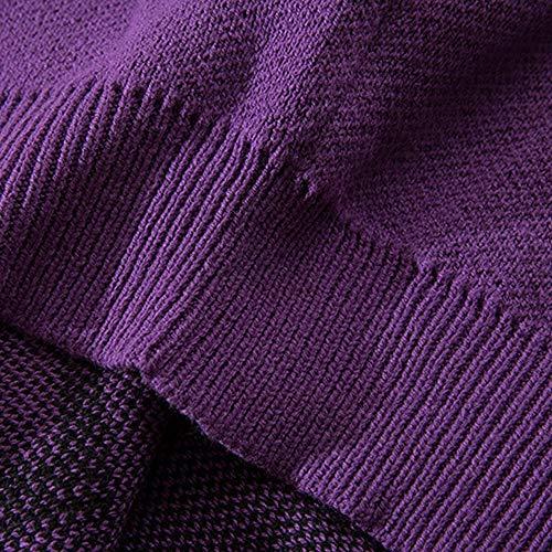 Manica Skkmall Oversize Da Purple Pipistrello Maglione Uomo xvtvw17r