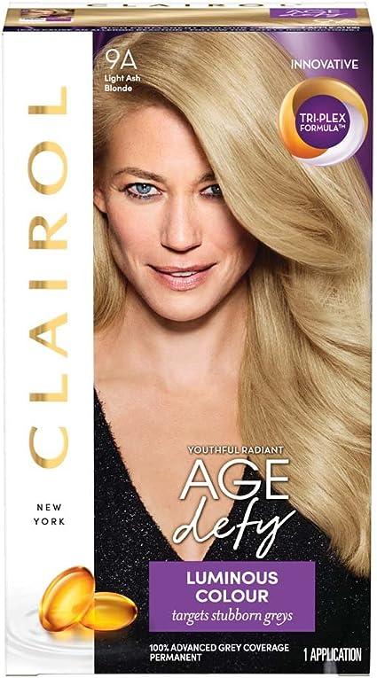 Clairol Age Defy - Tinte permanente para el cabello 9A, color rubio ceniza claro