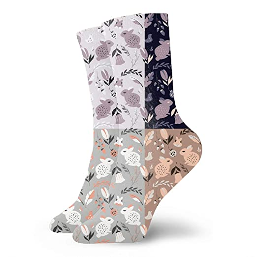 adcc9af53 Amazon.com  Womens Animals And Flowers Sock Vintage Winter Soft Warm ...