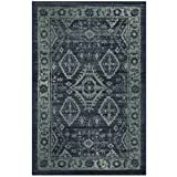 Maples Rugs Kitchen Rug – Georgina 2.5 x 4 Non Skid Small Accent Throw Rugs [Made in USA] for Entryway and Bedroom, 2'6 x 3'10, Navy Blue/Green For Sale