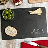 Engraved Personalized Gifts/Slate Cheese Cutting Board/Initial Gifts for Couples/House Warming Presents/Engagement Gifts for Women