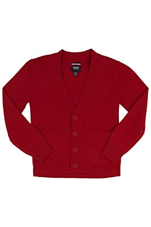 Amazon.com: French Toast Big Boys' V Neck Cardigan Sweater (Red 16 ...