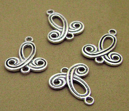 UPC 025403570226, 10 Pcs Tibetan Silver Jewelry Earring Necklace Crafting Charms Connectors 1inch X 3/4 Inch