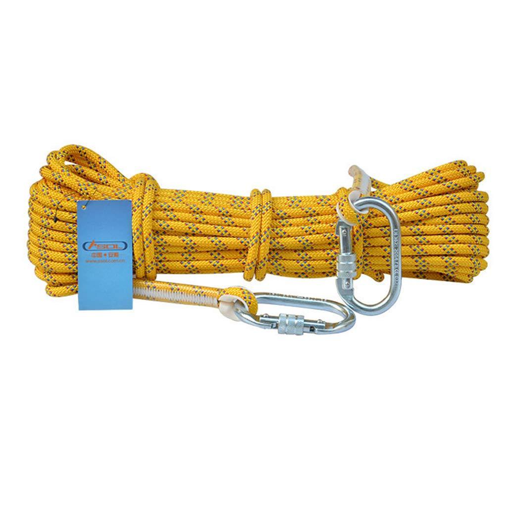 Jaune CLIMBING équipement De Survie Extérieur De Corde De Sécurité d'escalade De Corde D'évasion De Corde De Sécurité élevée D'altitude De La Corde 10.5MM vert-10.5mm20m 10.5mm20m