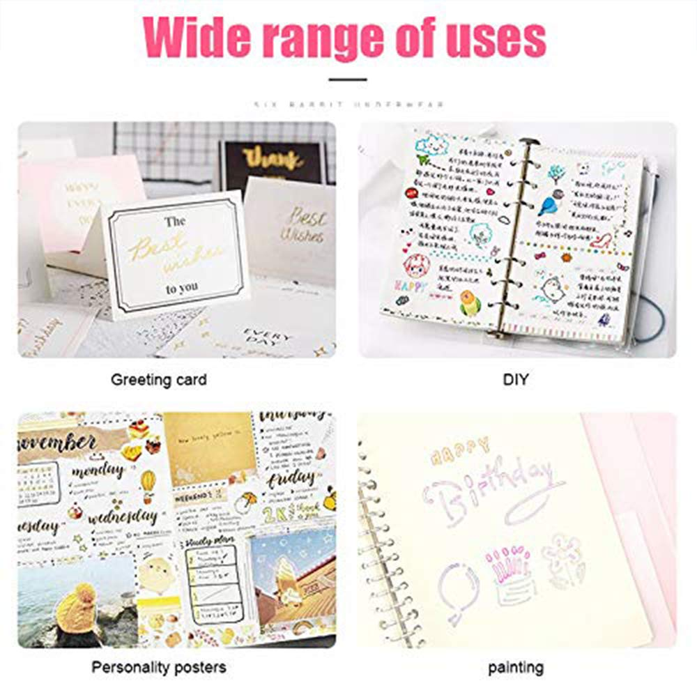 Double Line Outline Pens, SmileStar 8pcs Two-Line Color pen Outline Metallic Markers Highlighter Writing Drawing Pens for Gift Card Making, Art Rock Painting, Coloring Books, Craft Drawing Doodling