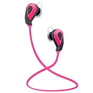 Auriculares estéreo Bluetooth V4.1 Auriculares inalámbricos Audífonos Deportes que funcionan con auriculares con micrófono