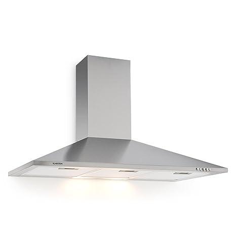 Klarstein TR90WS Filter 3 cappa aspirante da cucina (90cm, 340m³/h, 3  filtri antigrasso, funzione riciclo, rumore e consumo energetico minimi, 3  ...