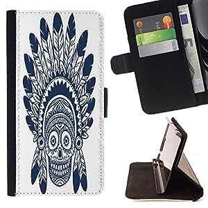King Case - FOR LG OPTIMUS L90 - Care brings grey hair - Prima caja de la PU billetera de cuero con ranuras para tarjetas, efectivo Compartimiento desmontable y correa para la mu?eca