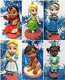 Disney Baby Animator Christmas Tree Ornament Set of 6 Featuring Lilo, Elsa, Baby Moana, Tiana, Tinker Bell and Alice