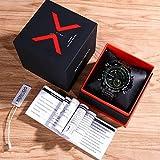 KOSSFER Men's Watch Pro Diver Analog Swiss Collection Chronograph Dial Black Big Face Sports Watch Waterproof Multifunction Men Watch Digital Wrist Watches