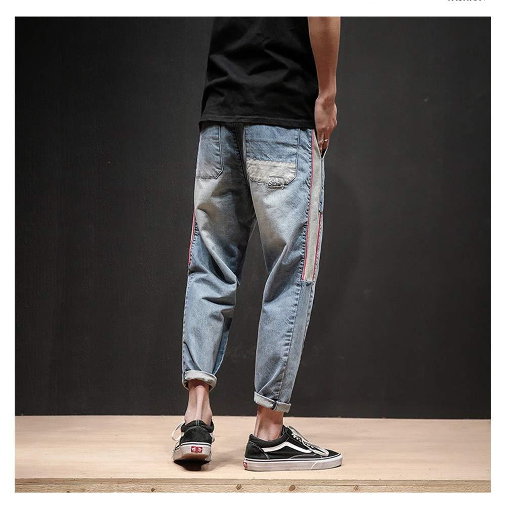 Douhuayu Mens Trend New Harlan feet Fashion Casual Denim Trousers
