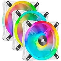 Corsair CO-9050104-WW iCUE QL120 RGB, 120 mm RGB LED PWM Fans (102 Individually Addressable RGB LEDs, Speeds Up to 1,500…