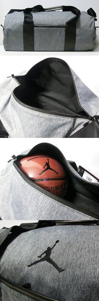 Jordan JORDAN UNSTRUCTURED DUFFEL unisex-adult sports-duffel-bags BA8064-063_MISC - DK GREY HEATHER/BLACK