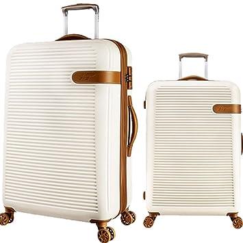 Equipaje de viaje duro Shell Juego de equipaje de hilandero giratorio rígido de 2 pulgadas de ...