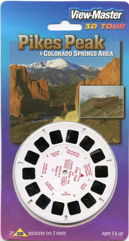 ViewMaster - Pike's Peak and Colorado Springs Area - 3 Reels on Card - NEW