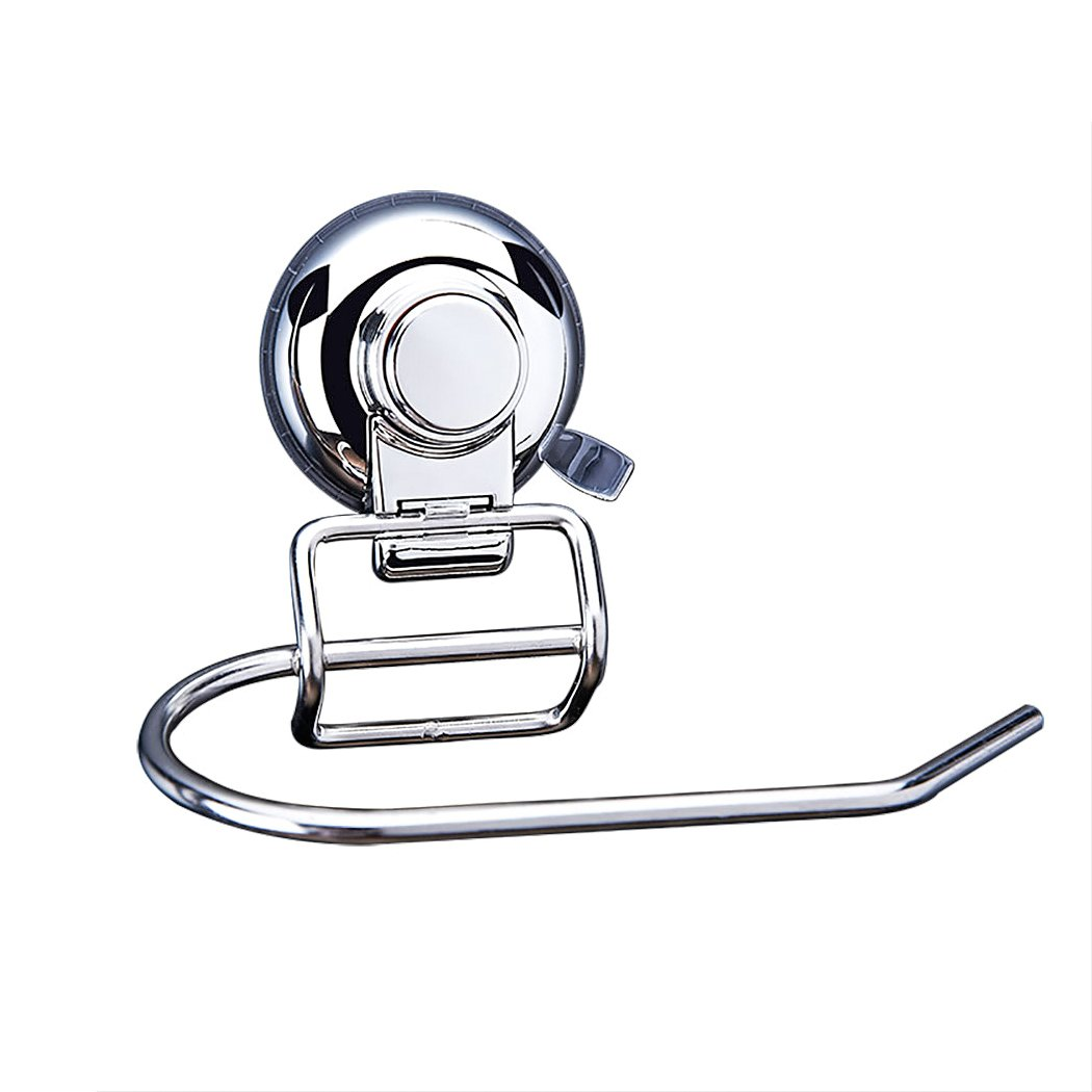 FUNRUI SUS304 Stainless Steel Suction Toilet Roll Holder No Drilling Bathroom Kitchen Accessories Tissue Towel Roll Holder Hook Hanger Chrome Plated