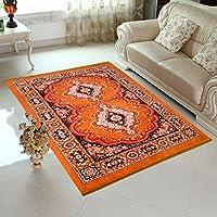 Elite Home HOME ELITE Abstract Microfibre Carpet - 84X60, Orange