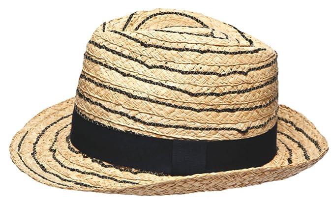 99dafa861e5 Image Unavailable. Image not available for. Colour  Socks Uwear Unisex  Adult Foldable Open Weave Straw Trilby Summer Sun Hat Plain Black Band