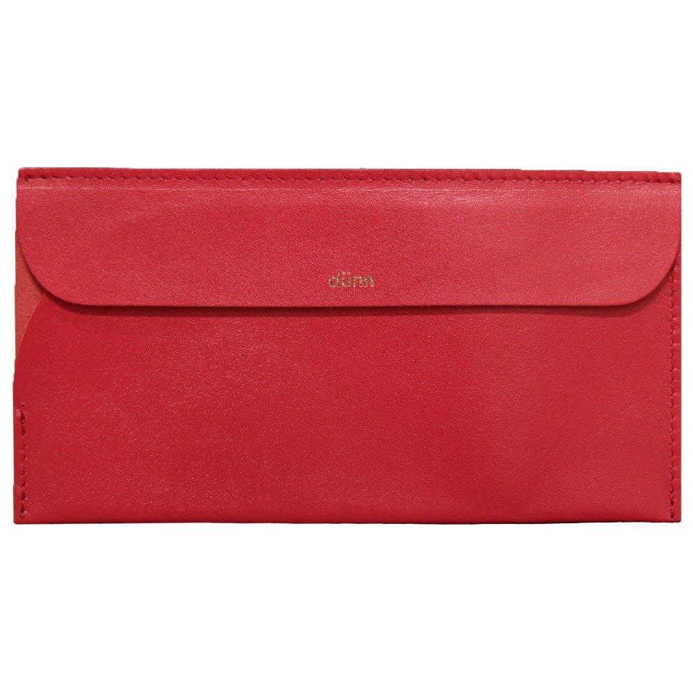 dünn (デュン)ワールドウォレット 軽くて薄い 財布、マネークリップに 世界中の通貨に対応 ロンド工房 B01KWNP57M レッド レッド