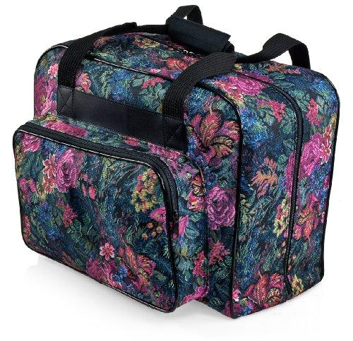 Sewing Machine Bag (Distinctive Large Floral Pattern Premium Sewing Machine Universal Tote Bag)