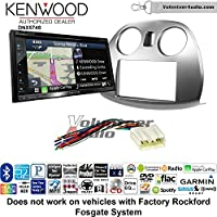 Volunteer Audio Kenwood DNX574S Double Din Radio Install Kit with GPS Navigation Apple CarPlay Android Auto Fits 2006-2012 Mitsubishi Eclipse