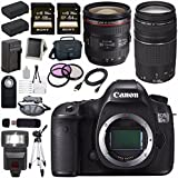 Canon EOS 5DS-R 5DSR DSLR Camera + EF 24-70mm f/4L IS USM Lens + Canon EF 75-300mm f/4-5.6 III Telephoto Zoom Lens + LPE-6 Lithium Ion Battery + Canon 100ES EOS shoulder bag Bundle 9