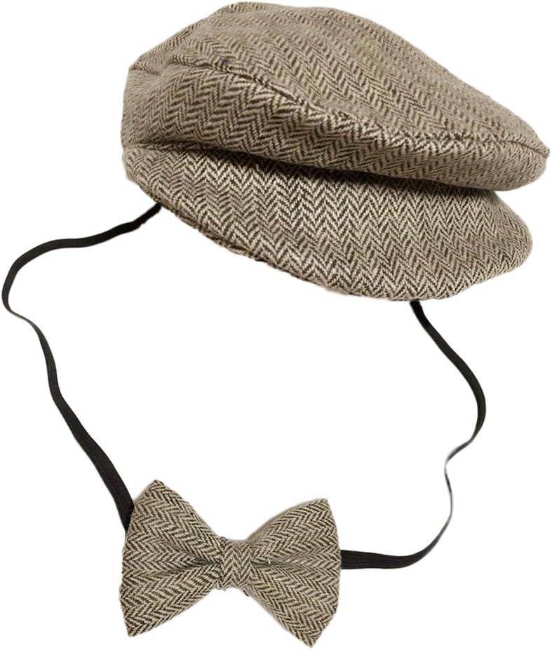 Coffee YeahiBaby Newborn Cap Costume Hat Photography Baby Boys Girls Beret Hats Unisex Flat Cap Baby Photo Props