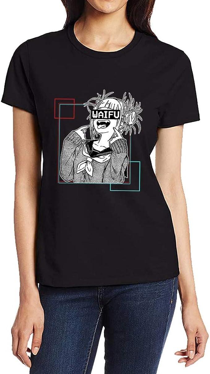 Elibeauty Lunanana My Hero Academia T-shirt /à manches courtes en polyester imprim/é MHA pour filles et femmes M