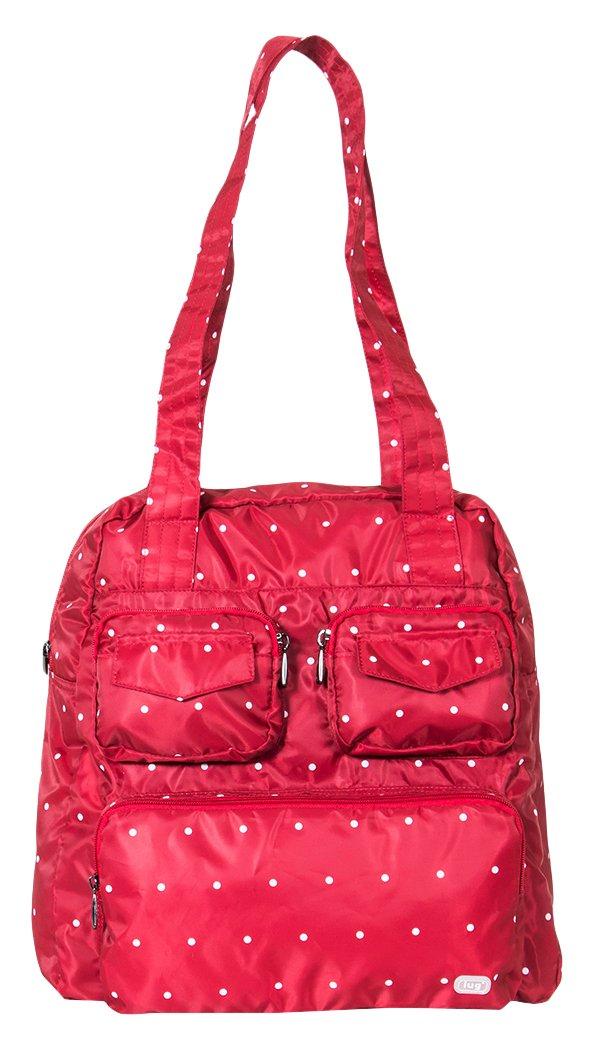 Lug Women's Puddle Jumper Duffel Bag, Crimson Dot, One Size