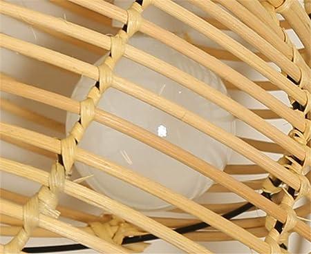 YQRDDD Lámparas de araña Concha de Mimbre de bambú lámpara de araña la Sala de Estar Dormitorio Comedor lámpara de Madera Lámpara de araña: Amazon.es: Hogar