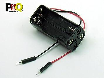 POPESQ® - Adaptador Caja para Pilas Soporte Pilas/Battery Holder 4 x AAA (R3) Compacto: Amazon.es: Electrónica