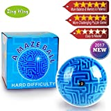 Mini 3D Magic Maze Puzzle Ball Cube Game Globe Sphere Bulk Labyrinth Toys Brain Teaser Game Learning Education Puzzle Toys Gifts for Kids Boys Girls Adults Holiday Birthday Xmas Gifts 2017