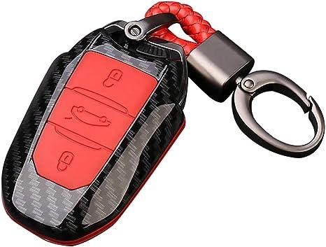 Happyit Abs Kohlefaser Shell Silikon Autoschlüssel Elektronik