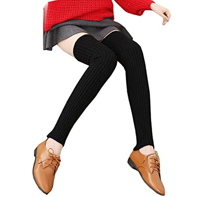 """1Pair 27"""" Knit Adult Winter Long High Leg Ankle Knee Warmers Cable Boot Cuffs Sleeve Socks Stocking Sets For Women Girls Chrismas Party"""