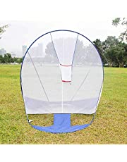 lahomie Redes Entrenamiento de Béisbol, Práctica de Entrenamiento de Béisbol Portátil al Aire Libre en Interiores de Chipeado de Objetivos Red de Práctica de Béisbol Bateo