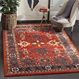 Safavieh Vintage Hamadan Collection VTH214C Oriental Antiqued Orange and Blue Area Rug (9' x 12')