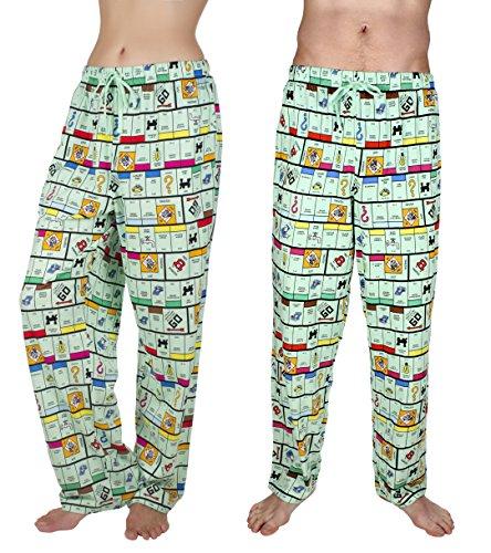 Monopoly Board Unisex Adults Classic Lounge Pants, Green, Medium