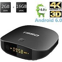 [2GB+16GB] T95D Android TV Box, REDGO Android 6.0 Quad-core Cortex A7 Full HD 2.4G WiFi Internet HDMI 2.0 4K*2K 1080P BT4.0 H.265 Smart TV Box
