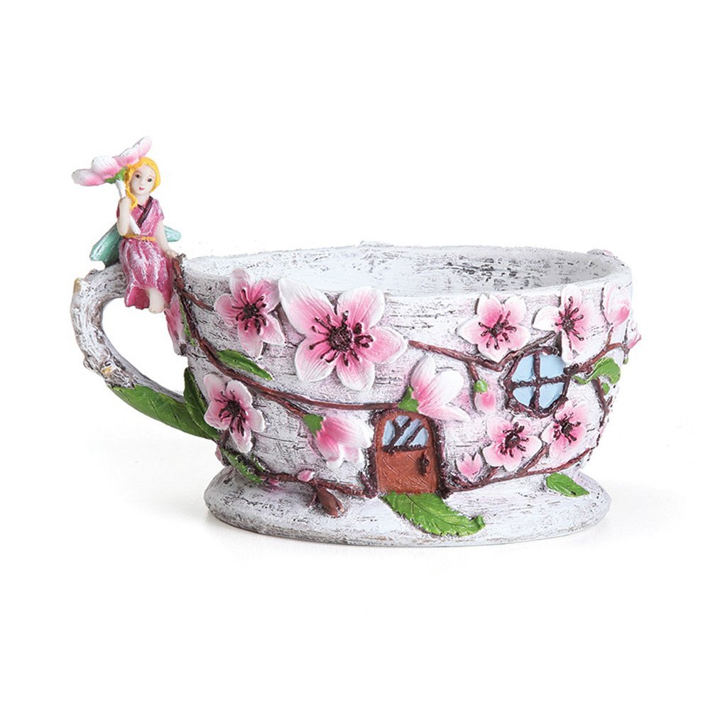 Miniature Fairy Garden Cherry Blossom Teacup