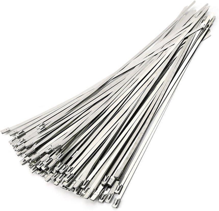 ANZESER Bridas Metalicas 4.6 * 300mm Metal Cable Ties 100pcs