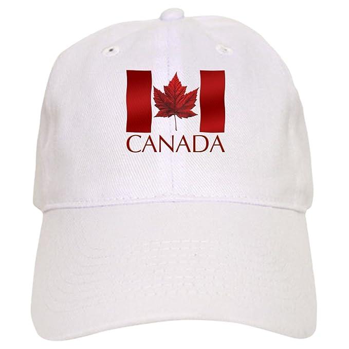 3b7abd9d782e1 CafePress - Canada Souvenir Baseball Cap Canada Flag Cap - Baseball Cap  with Adjustable Closure