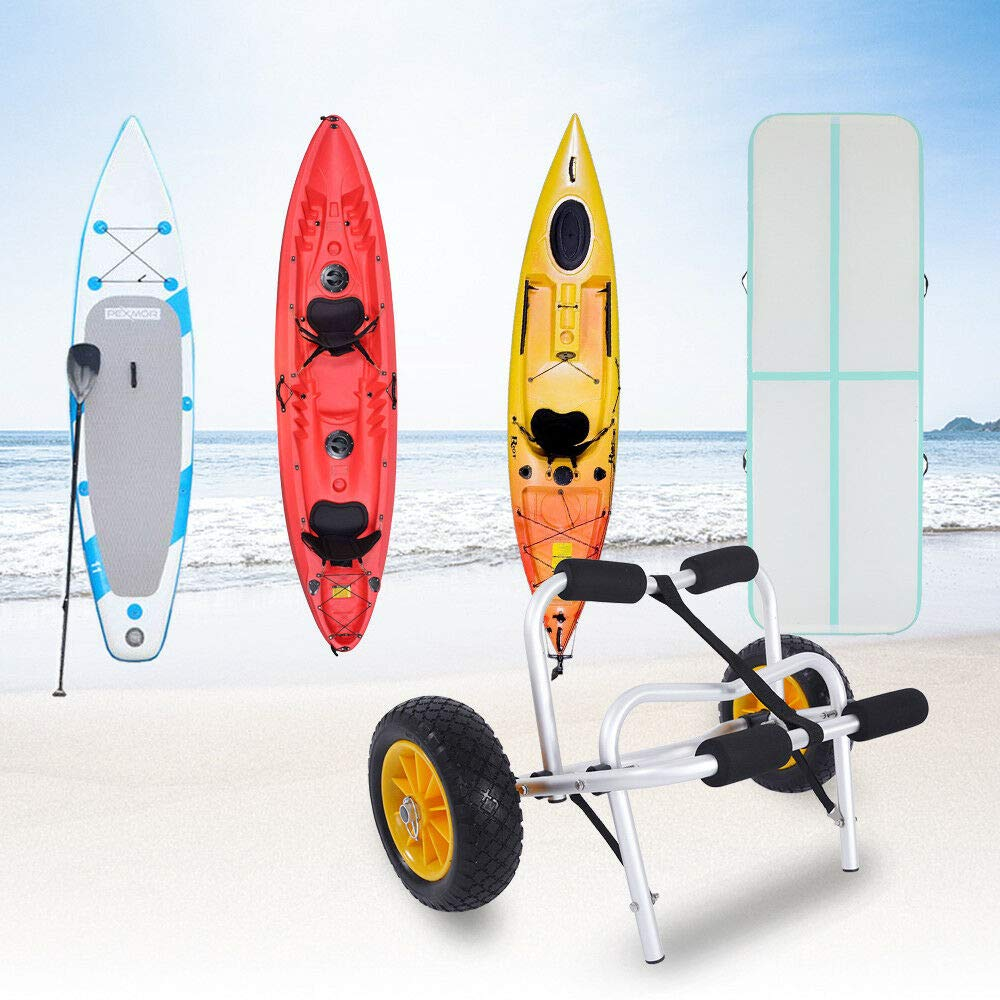 Foldable Kayak Dolly Cart Carrier Boat Canoe Trolley Trailer Paddle Board Wheels by Unknown