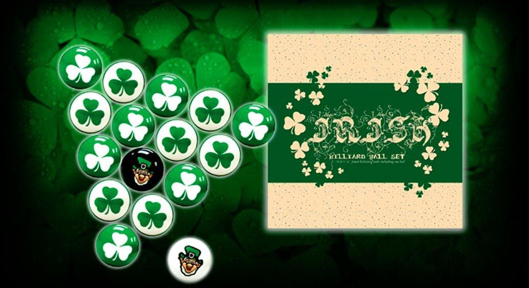 Vigma Pool Ball Set - Lucky Irish Pool Balls