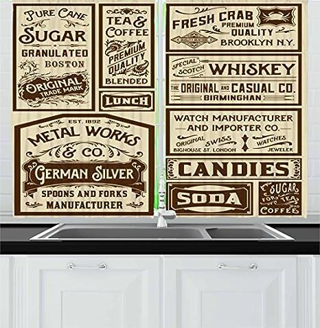 Retro Style Kitchen Curtains