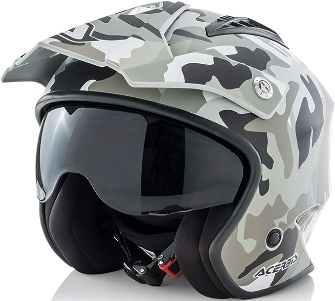 ACERBIS casco Jet aire Camo/Brown, l (59/60)